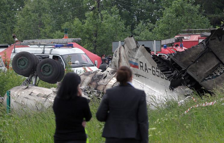 """Место крушения пассажирского самолета Ту-134А авиакомпании """"РусЭйр"""""""
