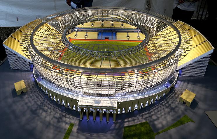 Макет Центрального стадиона к чемпионату мира 2018 года