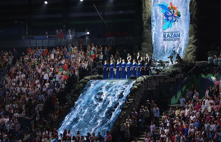Церемония открытия 16-го Чемпионата мира по водным видам спорта