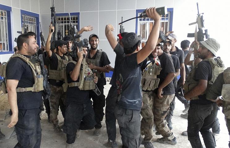 Подразделения армейского спецназа Ирака в университете Рамади