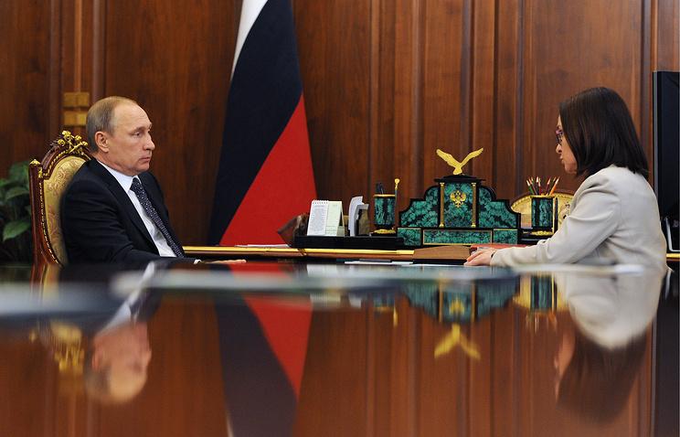 Президент РФ Владимир Путин и председатель Центрального банка Эльвира Набиуллина