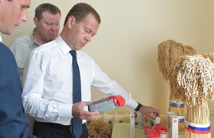 Премьер-министр РФ Дмитрий Медведев во время рабочей поездки в Краснодар