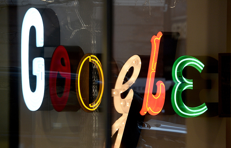 Вывеска в офисе Google