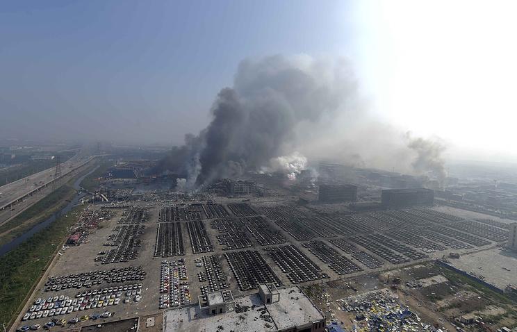 Вид на склад в Тяньцзинь