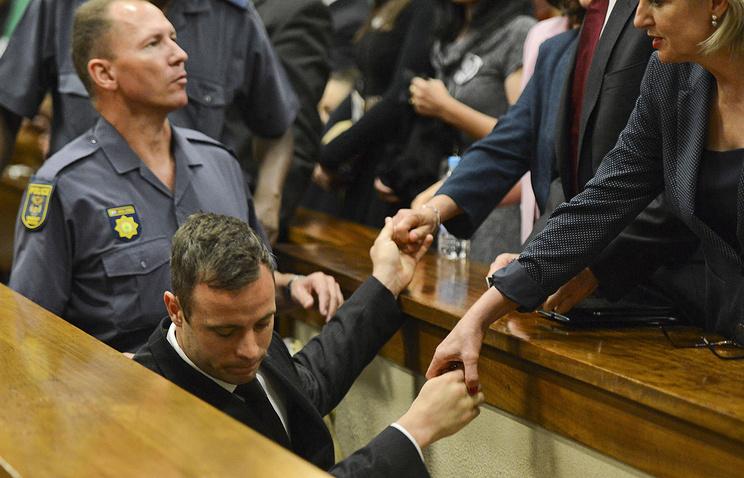 Оскар Писториус в зале суда