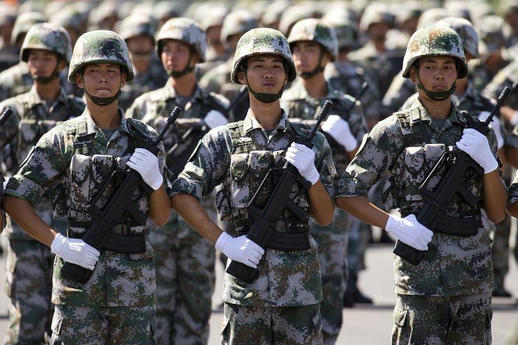 Во время репетиции военного парада в Пекине