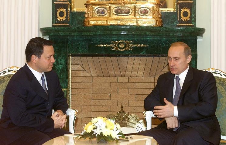 21 ноября 2001 года. Абдалла II и Владимир Путин