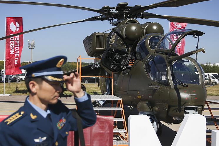 Вертолет Ми-35М на Международном авиационно-космическом салоне МАКС