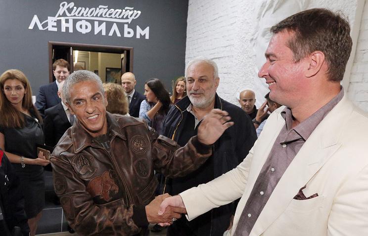 """Актер Сами Насери и директор киностудии """"Ленфильм"""" Эдуард Пичугин"""