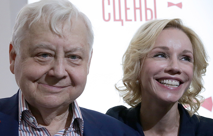 Олег Табаков с супругой актрисой Мариной Зудиной