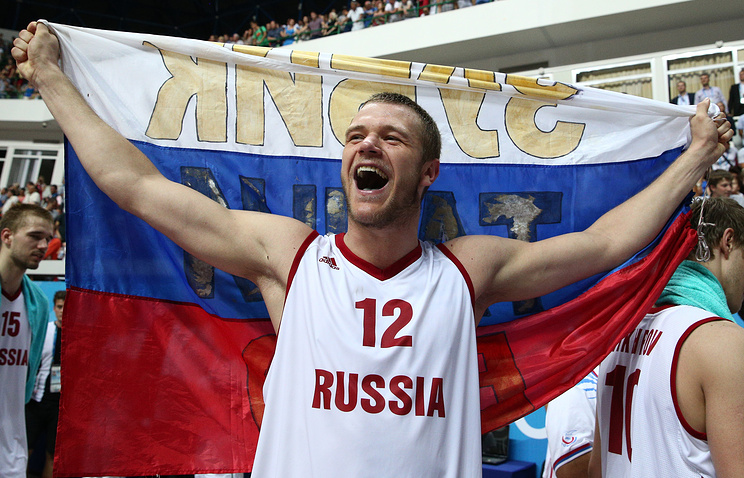 Баскетболист сборной России Андрей Зубков