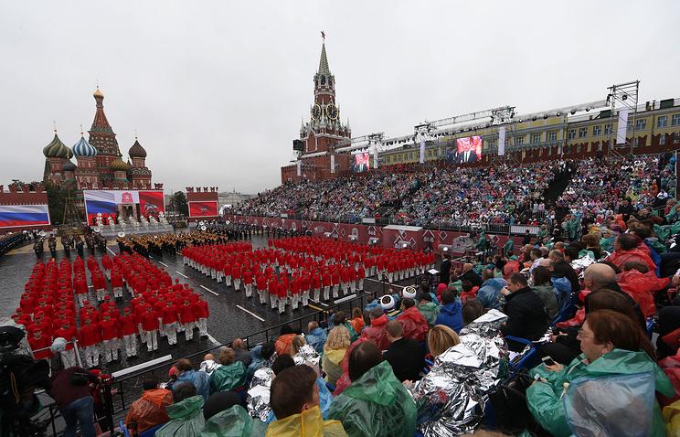 Торжественная церемония открытия Дня города Москвы на Красной площади