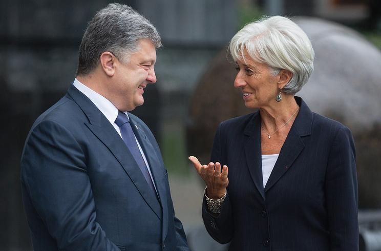 Петр Порошенко и Кирстин Лагард