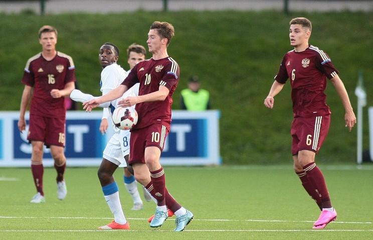 Эпизод из матча между молодежными сборными Финляндии и России