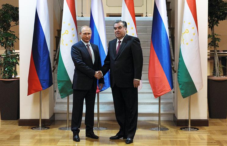 Президент России Владимир Путин и президент Республики Таджикистан Эмомали Рахмон