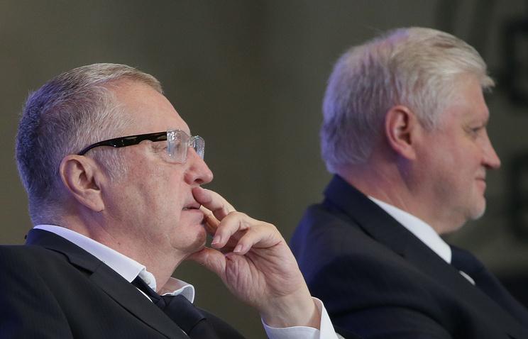 Владимир Жириновский и Сергей Миронов