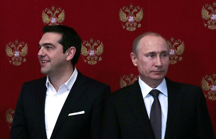 Премьер-министр Греции Алексис Ципрас и президент России Владимир Путин