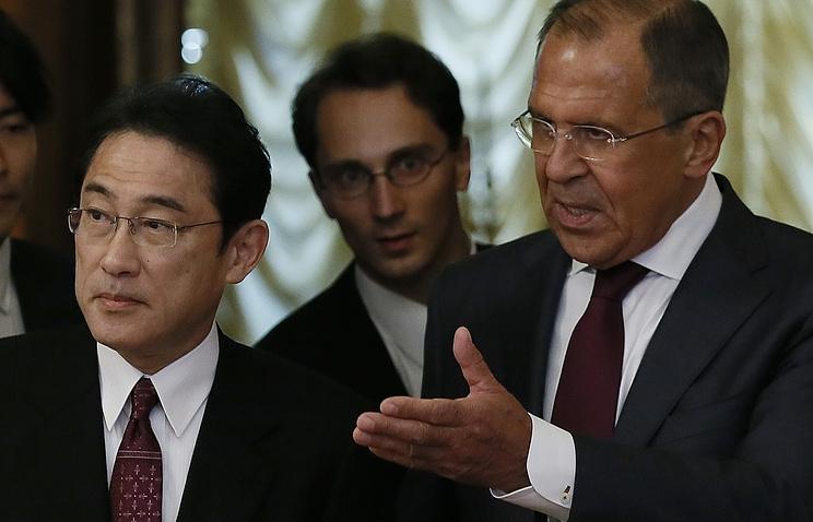 Фумио Кисида и Сергей Лавров