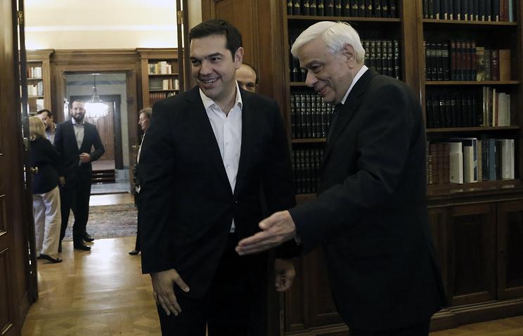 Алексис Ципрас и Прокопис Павлопулос