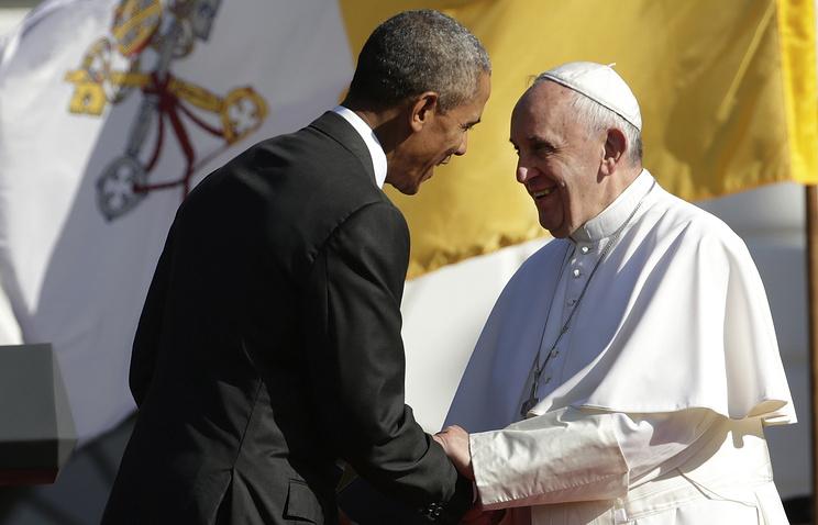 Президент США Барак Обама и папа римский Франциск