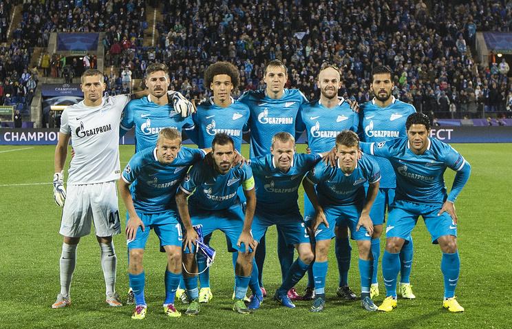 """Футболисты """"Зенита"""" перед матчем Лиги чемпионов"""