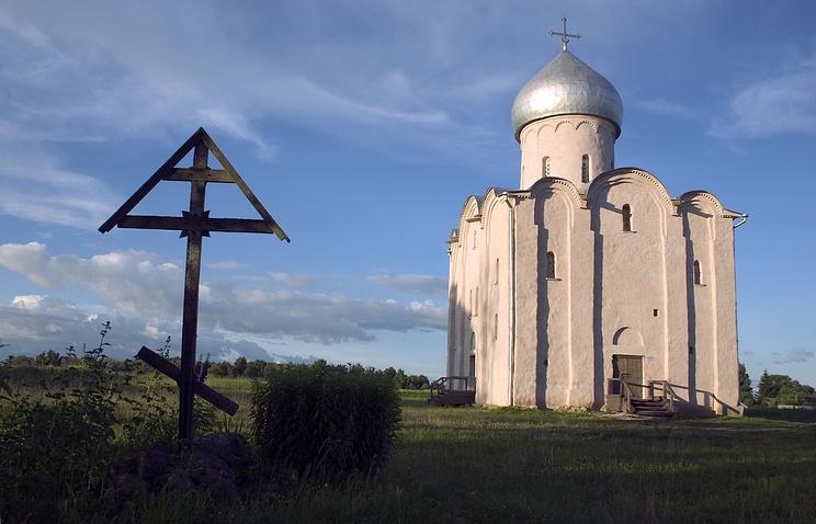 Церковь Спаса Преображения на Нередице. 2005 год