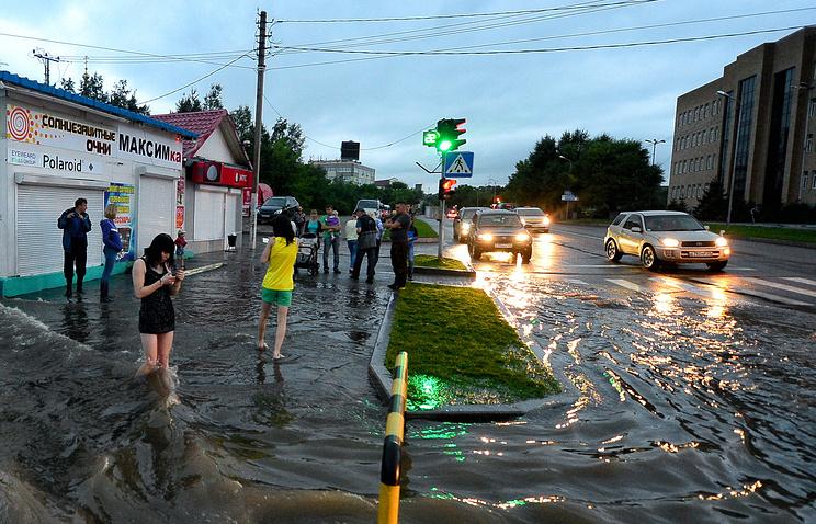 """Последствия тайфуна """"Гони"""" в Приморском крае, 2015 год"""