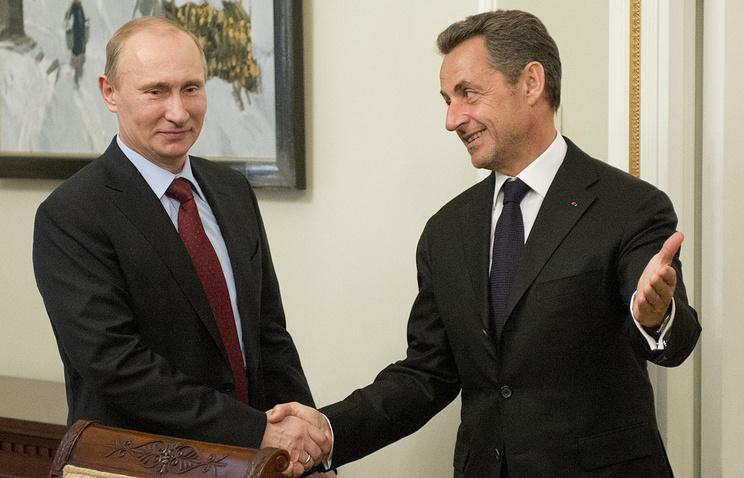 Владимир Путин и Николя Саркози, 2012 год