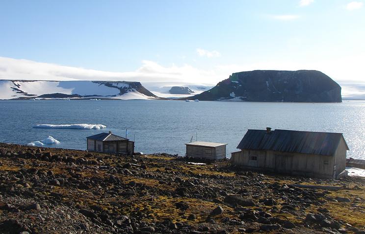 Вид на архипелаг Земля Франца-Иосифа