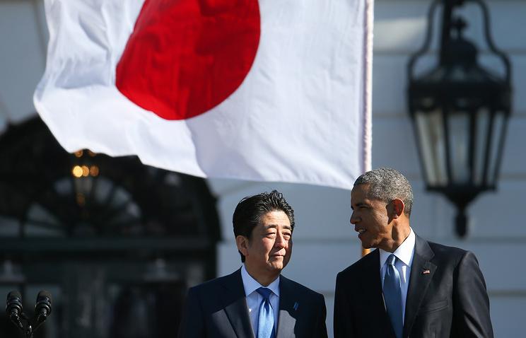 Премьер-министр Японии Синдзо Абэ и президент США Барак Обама