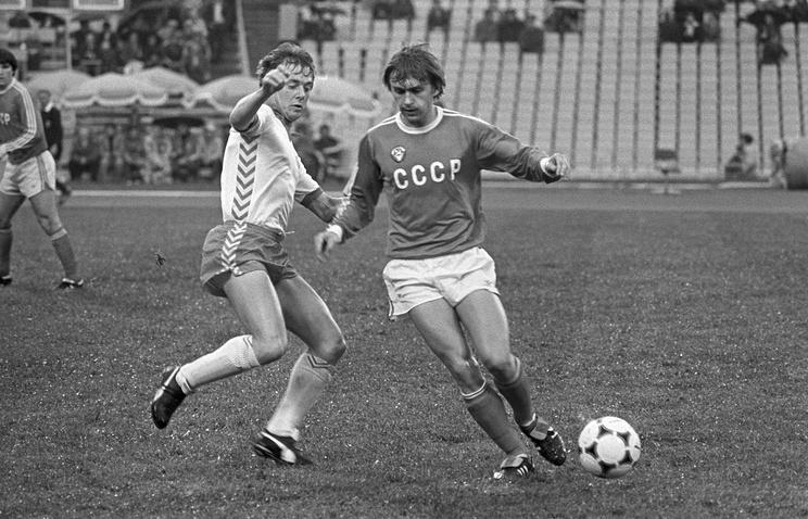 Федор Черенков во время игры, 1982 год