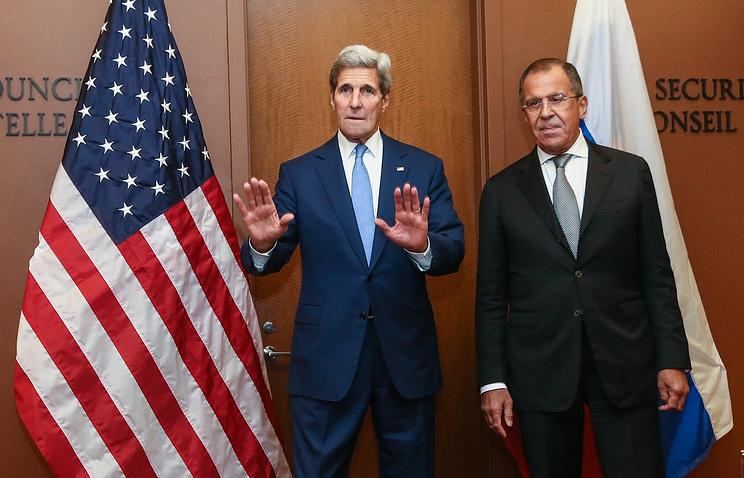 Госсекретарь США Джон Керри и глава МИД России Сергей Лавров