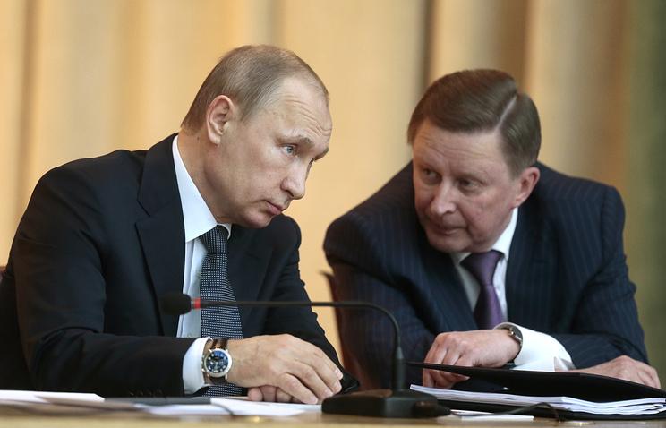 Президент России Владимир Путин и руководитель администрации президента РФ Сергей Иванов