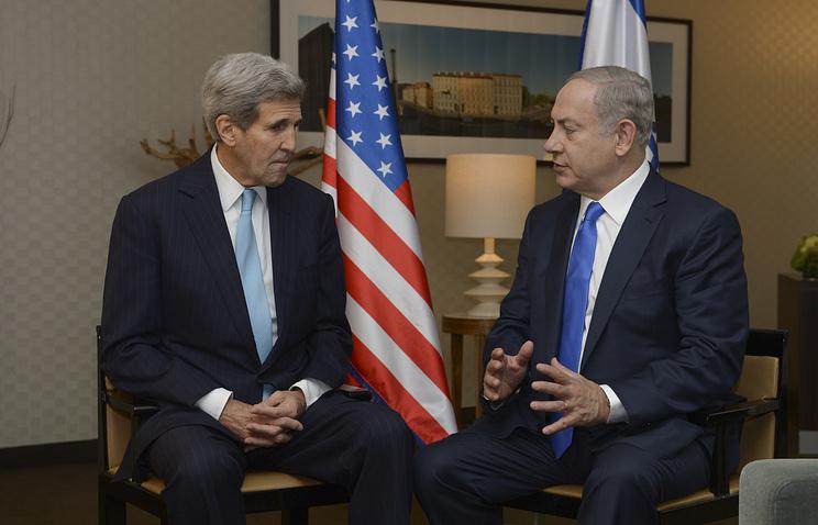 Госсекретарь США Джон Керри (слева) и премьер-министр Израиля Биньямин Нетаньяху