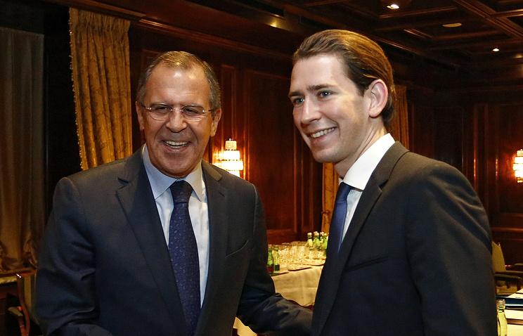 Главы МИД РФ и Австрии Сергей Лавров и Себастьян Курц