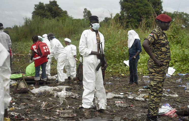 На месте крушения самолета Ан-12 в Южном Судане