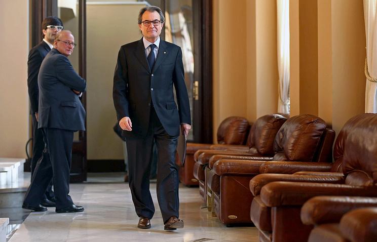 Председатель правительства Каталонии Артур Мас