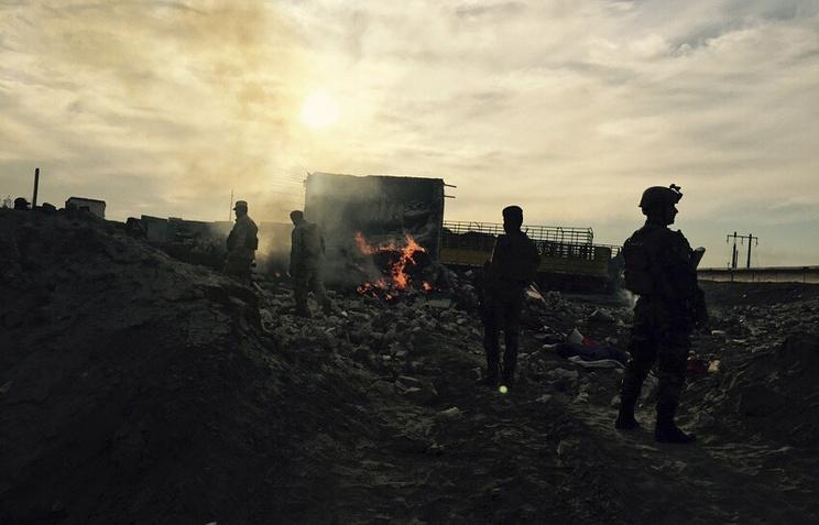 Иракские силы безопасности в центре города Рамади, Ирак, 27 декабря