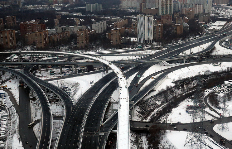 Развязка на участке трассы М-11 Москва - Санкт-Петербург