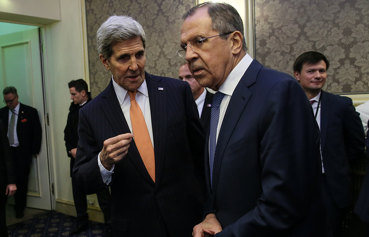 Госсекретарь США Джон Керри и министр иностранных дел РФ Сергей Лавров