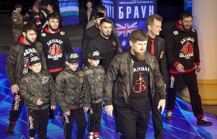 Глава Чечни Рамзан Кадыров (на первом плане)