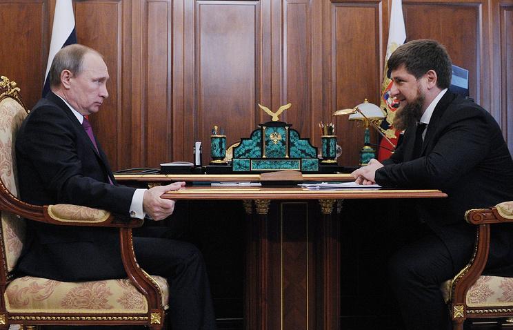 Владимир Путин и Рамзан Кадыров, 25 марта