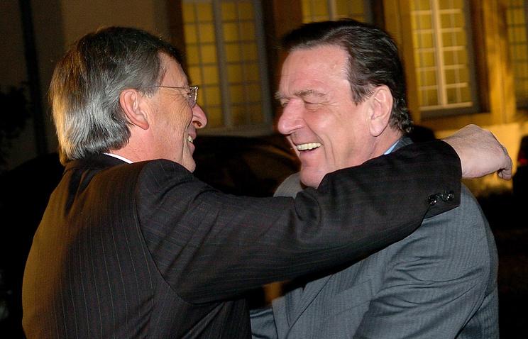 Жан-Клод Юнкер и Герхард Шрёдер 2005 год