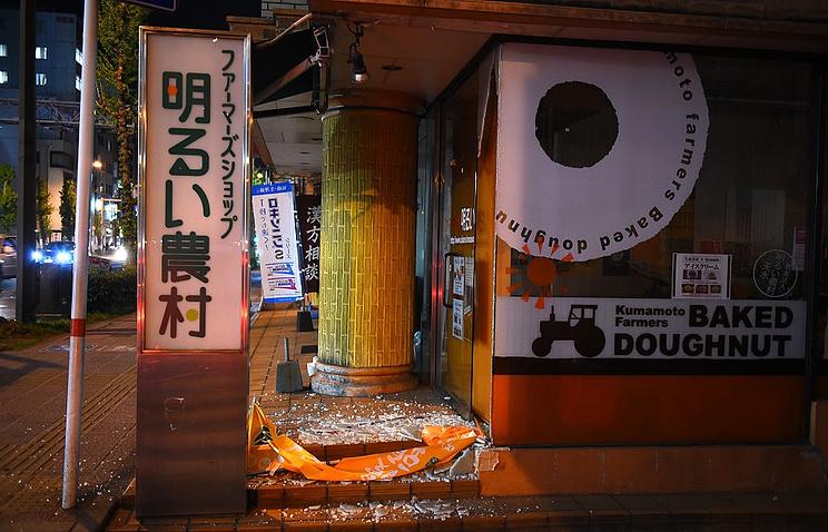 Последствия землетрясения в Кумамото