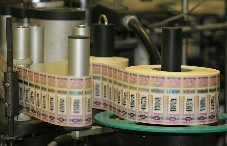 Единственным изготовителем акцизных марок для алкоголя будет «Гознак»