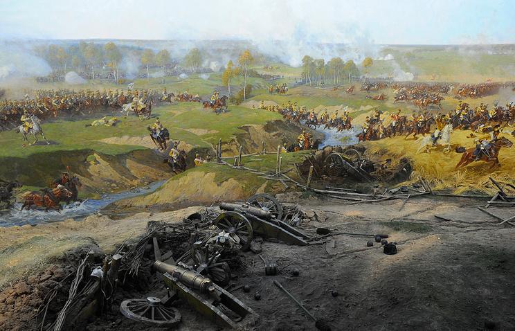 """Фрагмент панорамы """"Бородинская битва"""""""