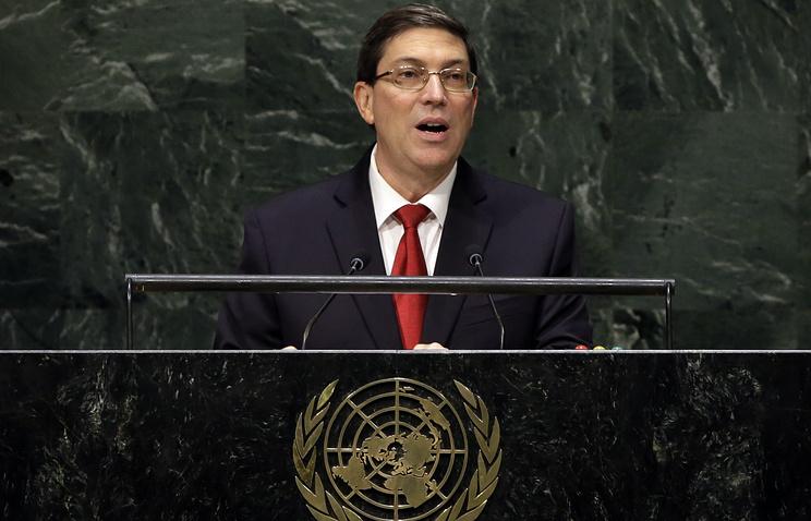 Руководитель МИД Кубы осудил действия НАТО иантироссийские санкции впредставительстве международной организации ООН