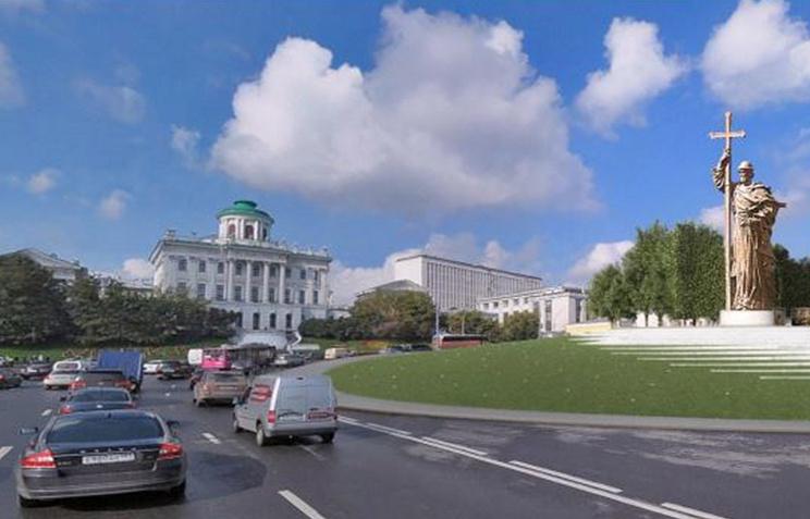 Монтаж монумента правителю Владимиру в столице России начнется 15октября