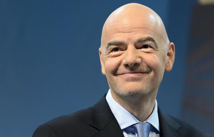 Президент ФИФА Джанни Инфантино посетит РФ 21октября