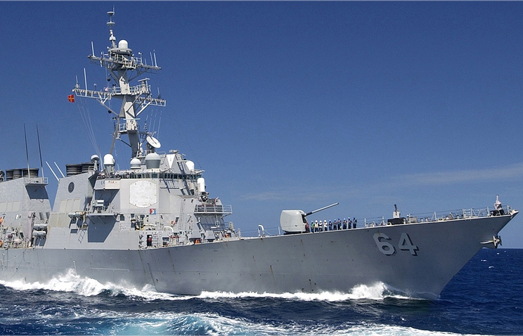 Американский эсминец ушел изЧерного моря ранее времени